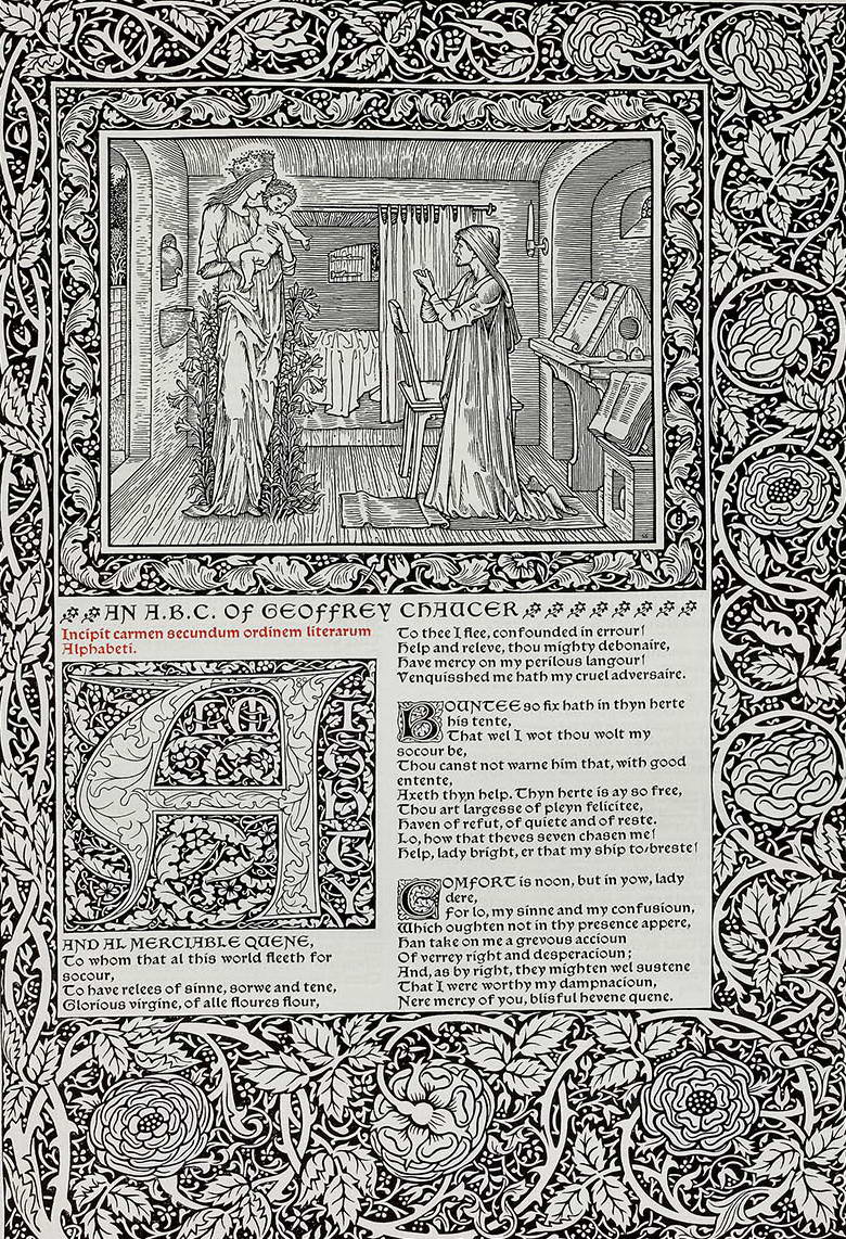 Doppelseite: The Works of Geoffrey Chaucer