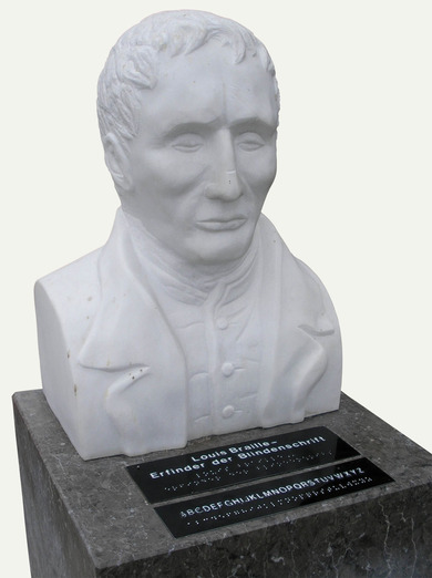 Büste: Louis Braille