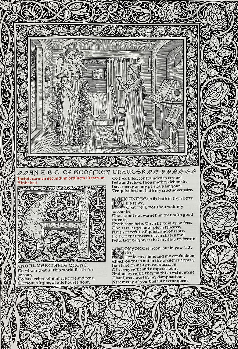 Double page: The Works of Geoffrey Chaucer