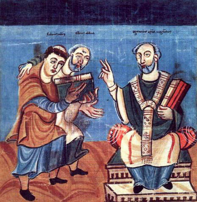 Illumination: Alcuin and Hrabanus Maurus