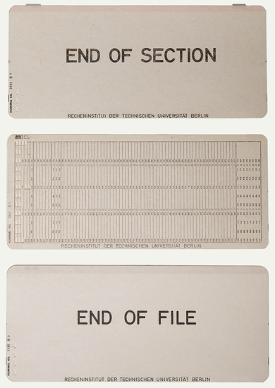 Object: punch cards
