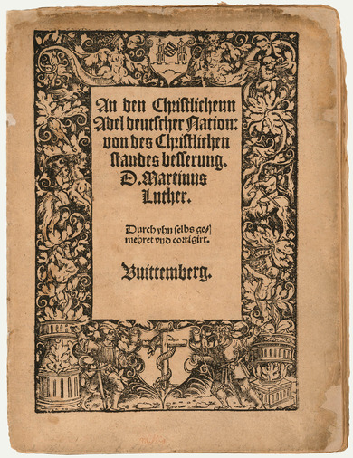 Title page: An den christlichen Adel deutscher Nation (Address to the Christian Noblility of the German Nation)