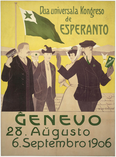 Poster: World Congress of Esperanto 1906